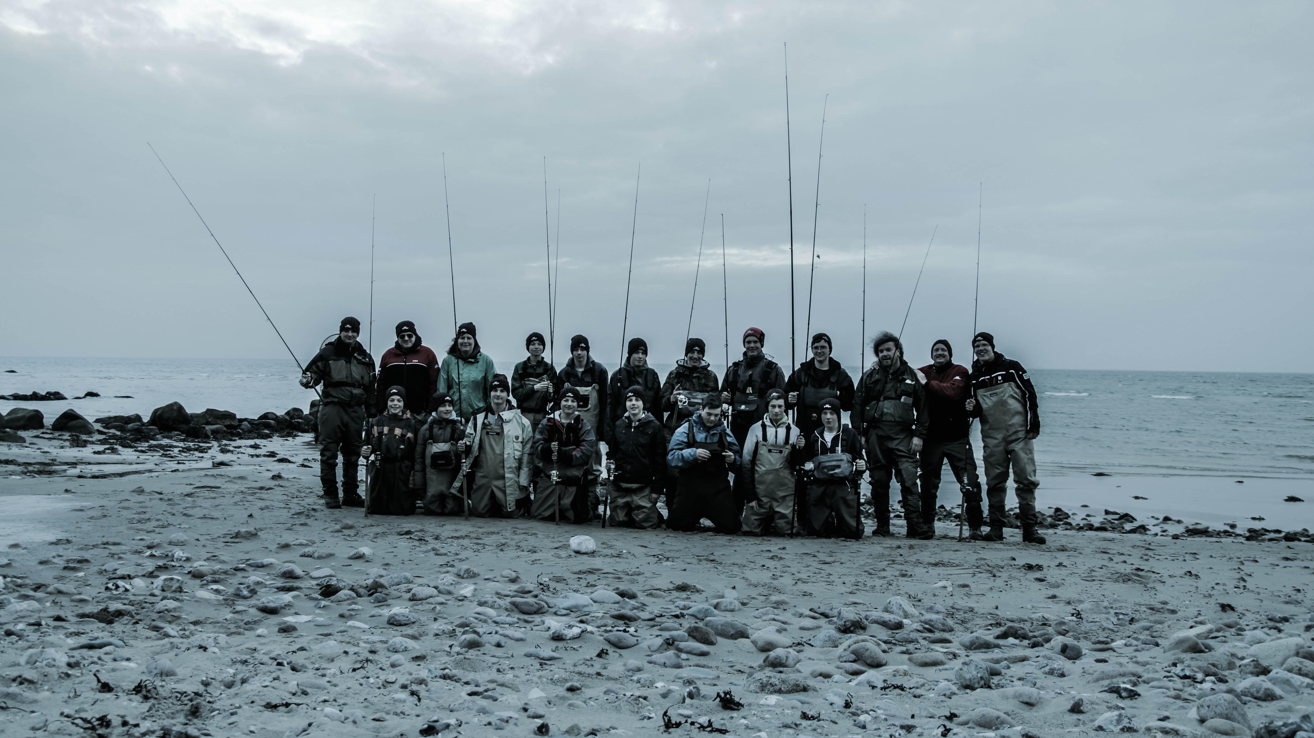 Angeln mit Schülern an der dänischen Küste